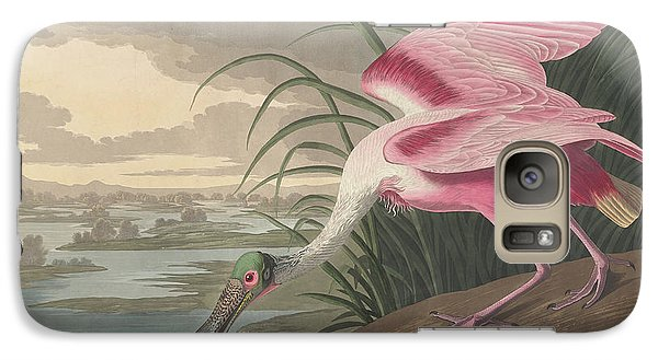 Spoonbill Galaxy S7 Case - Roseate Spoonbill, 1836  by John James Audubon