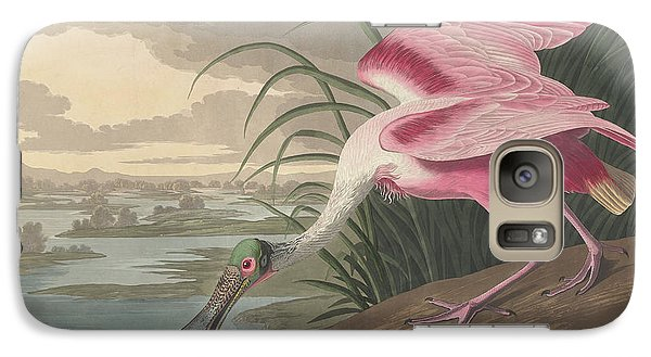 Roseate Spoonbill, 1836  Galaxy S7 Case by John James Audubon