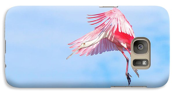 Roseate Spoonbill Final Approach Galaxy S7 Case
