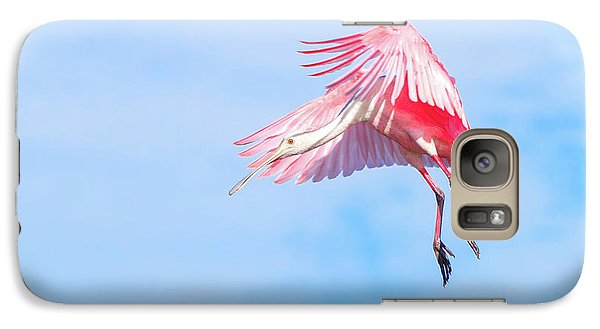 Roseate Spoonbill Final Approach Galaxy S7 Case by Mark Andrew Thomas