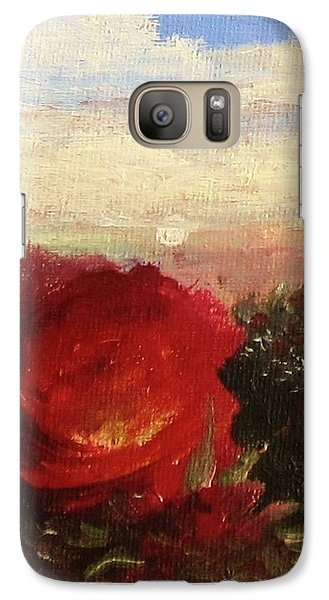 Galaxy Case featuring the painting Rosebush by Mary Ellen Frazee