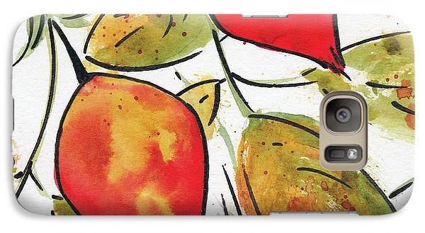 Galaxy Case featuring the painting Rosehips In Autumn by Pat Katz