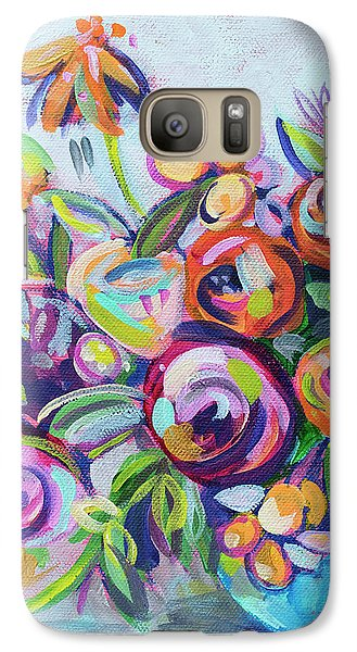 Roses And Kumquats Galaxy Case by Kristin Whitney