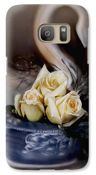 Galaxy Case featuring the painting roses for Susan by Bonnie Willis