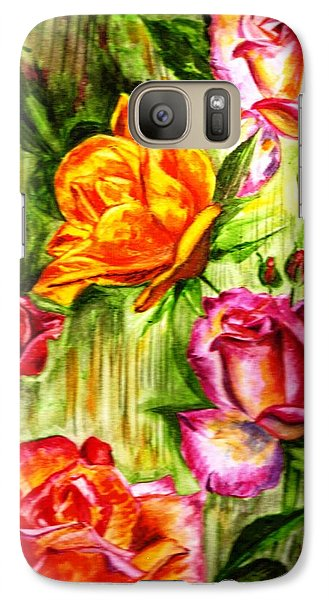 Galaxy Case featuring the painting Roses In The Valley  by Harsh Malik