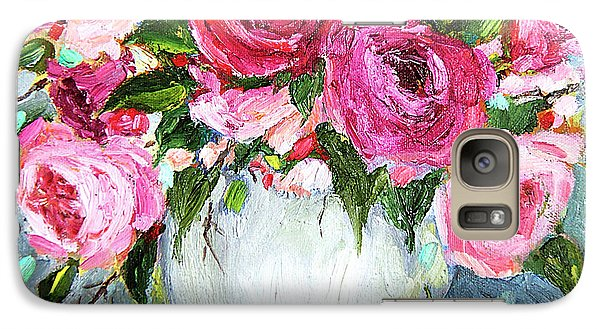 Galaxy Case featuring the painting Roses In Vase by Jennifer Beaudet