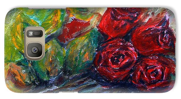 Galaxy Case featuring the painting Roses by Jasna Dragun