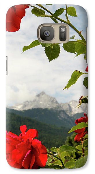 Galaxy Case featuring the photograph Roses Of The Zugspitze by KG Thienemann