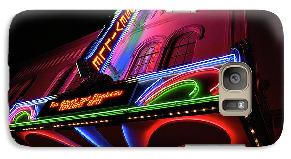 Roseville Theater Neon Sign Galaxy S7 Case by Melany Sarafis