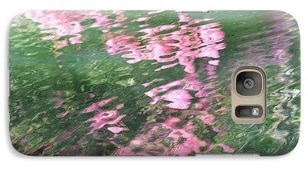 Galaxy Case featuring the photograph Rosey Ripples by Linda Geiger