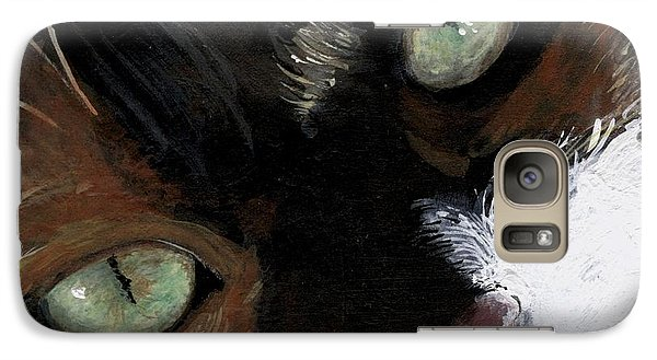Galaxy Case featuring the painting Rosie by Mary-Lee Sanders