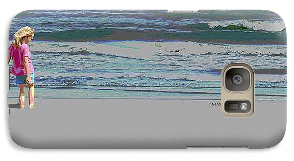 Galaxy Case featuring the digital art Rosie On The Beach by Walter Chamberlain