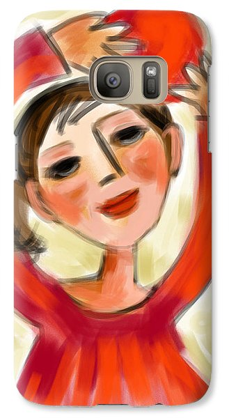 Galaxy Case featuring the digital art Rosie Red  by Elaine Lanoue