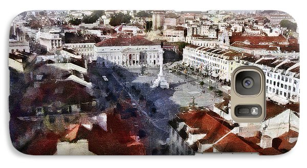 Galaxy Case featuring the photograph Rossio Square by Dariusz Gudowicz