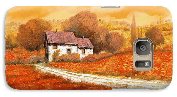 Landscapes Galaxy S7 Case - Rosso Papavero by Guido Borelli