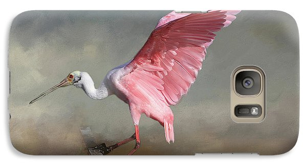 Spoonbill Galaxy S7 Case - Rosy by Donna Kennedy