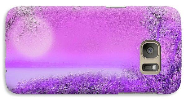 Rosy Hued Moonlit Lake - Boulder County Colorado Galaxy S7 Case