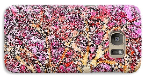 Galaxy Case featuring the digital art Rosy Hued Trees - Boulder County Colorado by Joel Bruce Wallach