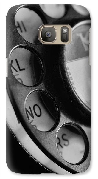 Galaxy Case featuring the photograph Rotary Dial In Black And White by Mark Miller