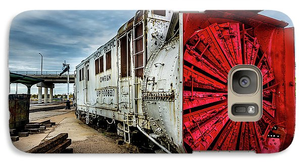 Galaxy Case featuring the photograph Rotary Snow Plow Vintage Train - Utah by Gary Whitton