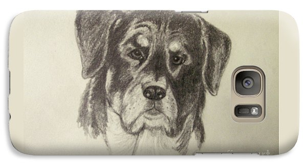 Galaxy Case featuring the drawing Rottweiler by Suzette Kallen