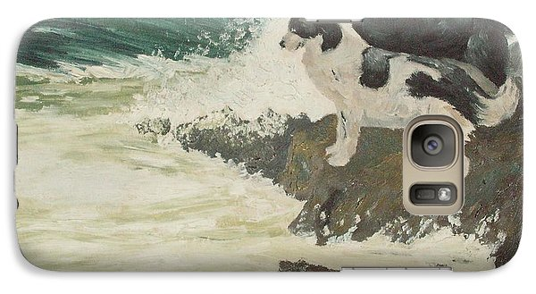Galaxy Case featuring the painting Roughsea by Terry Frederick