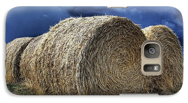 Galaxy Case featuring the photograph Round Bales by Brad Allen Fine Art