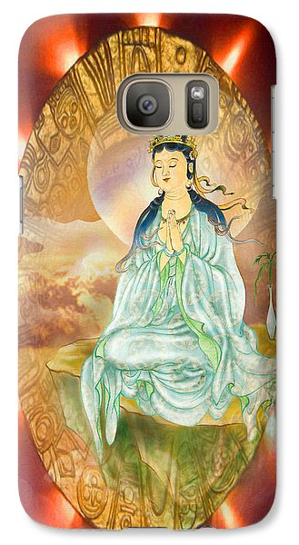 Galaxy Case featuring the photograph Round Halo Kuan Yin by Lanjee Chee