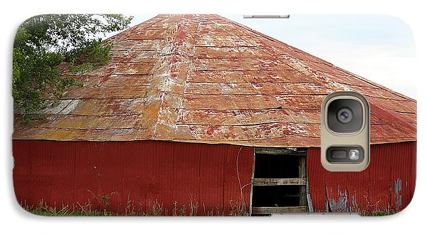 Galaxy Case featuring the photograph Round Red Barn by Sheila Brown