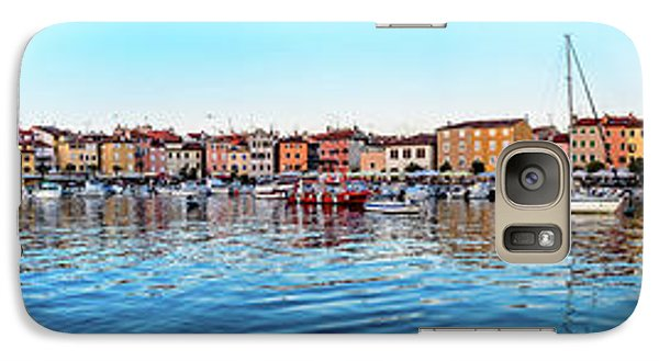 Rovinj Harbor And Boats Panorama Galaxy S7 Case