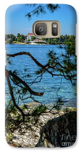 Rovinj Seaside Through The Adriatic Trees, Istria, Croatia Galaxy S7 Case