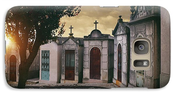 Galaxy Case featuring the photograph Row Of Crypts by Carlos Caetano