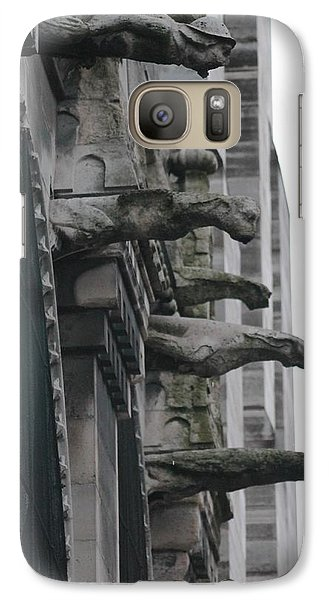 Galaxy Case featuring the photograph Row Of Gargoyles by Christopher Kirby