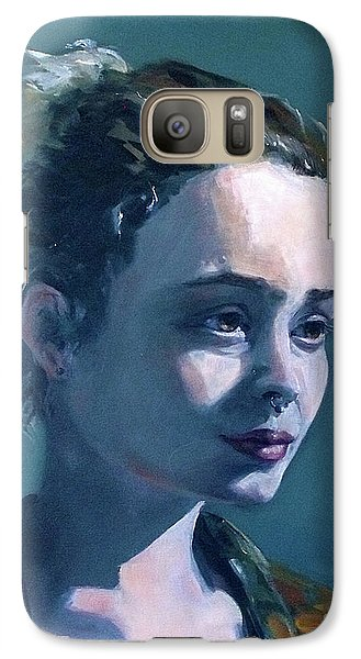 Galaxy Case featuring the painting Rowan by Diane Daigle