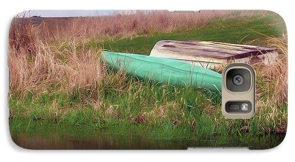 Galaxy Case featuring the photograph Rowboat - Canoe by Nikolyn McDonald