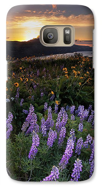 Galaxy Case featuring the photograph Rowena  Dawn by Mike Lang