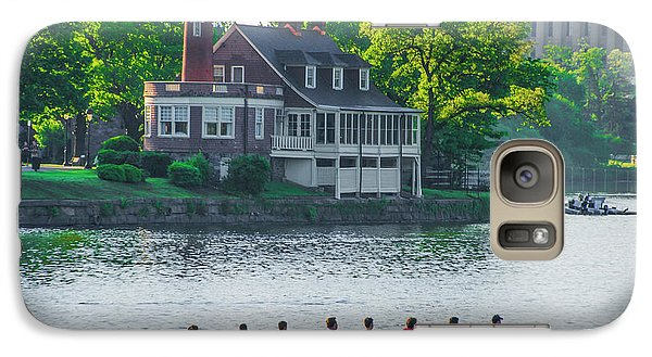 Galaxy Case featuring the photograph Rowing Crew In Philadelphia In The Spring by Bill Cannon