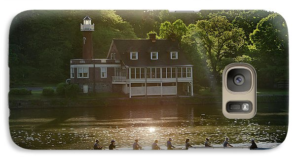 Galaxy Case featuring the photograph Rowing In Front Of Segley Club by Bill Cannon