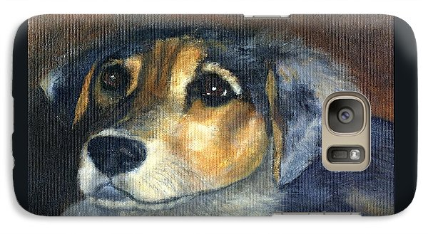 Galaxy Case featuring the painting Roxie by Gail Kirtz