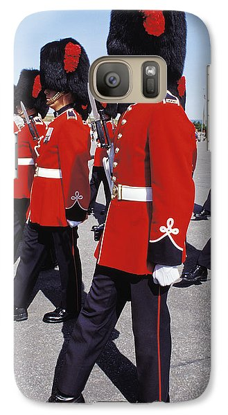 Galaxy Case featuring the photograph Royal Guards In Ottawa by Carl Purcell