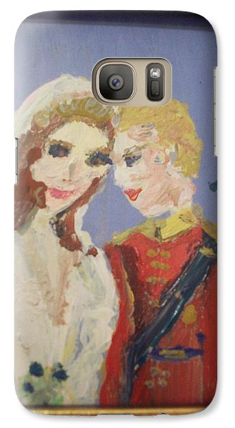 Galaxy Case featuring the painting Royal Kiss by Judith Desrosiers