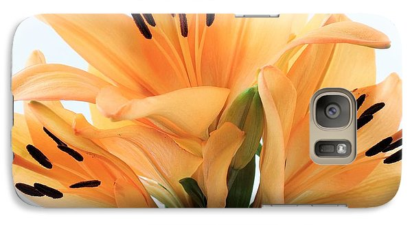 Galaxy Case featuring the photograph Royal Lilies Full Open - Close-up by Ray Shrewsberry