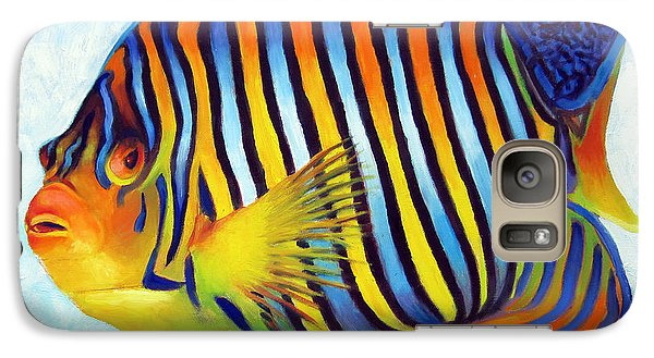 Galaxy Case featuring the painting Royal Queen Angelfish by Nancy Tilles