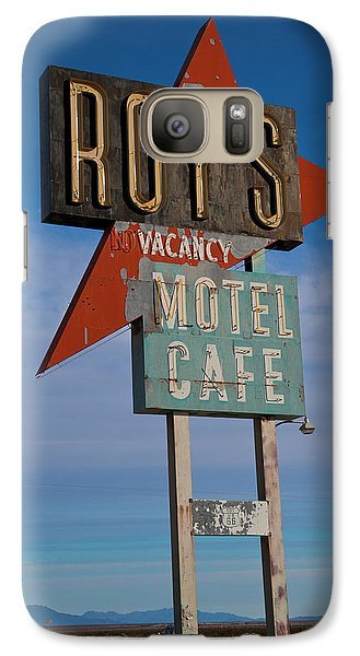 Galaxy Case featuring the photograph Roy's Motel Cafe by Matthew Bamberg