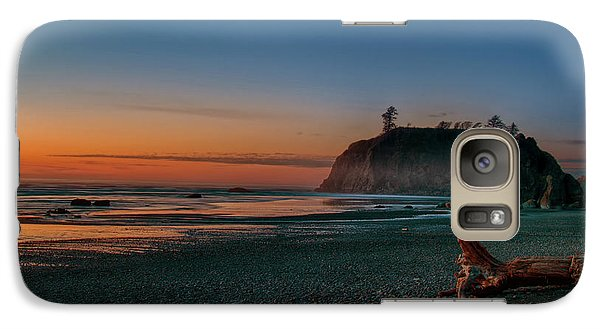 Galaxy Case featuring the photograph Ruby Beach Sunset by Mary Jo Allen