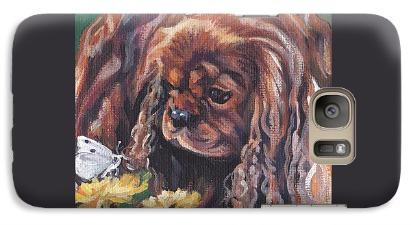 Galaxy Case featuring the painting Ruby Cavalier King Charles Spaniel by Lee Ann Shepard