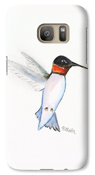 Galaxy Case featuring the painting Ruby Hummer by Patricia Piffath