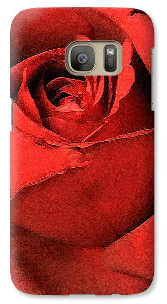 Galaxy Case featuring the photograph Ruby Rose by Marna Edwards Flavell