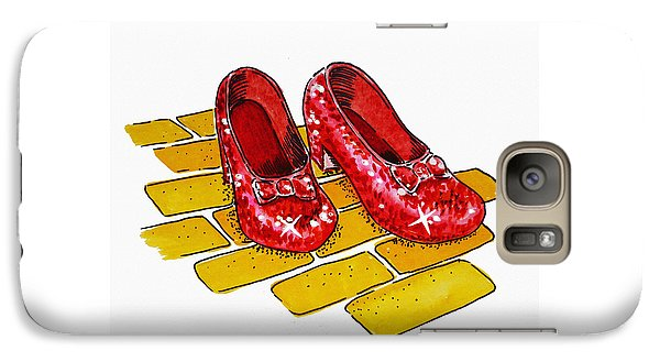 Ruby Slippers The Wizard Of Oz  Galaxy S7 Case by Irina Sztukowski
