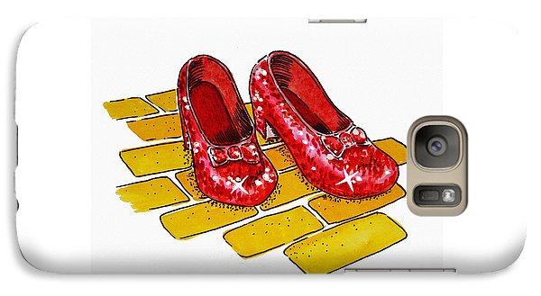 Wizard Galaxy S7 Case - Ruby Slippers The Wizard Of Oz  by Irina Sztukowski